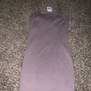 Strappy mauve dress